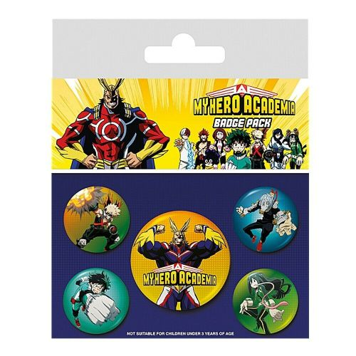 My Hero Academia Characters Button Badge Pack